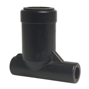Melkbokaaladapter haaks 2 x 16mm, 32mm corr. DeLaval/Manus